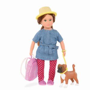 Nadene & Nash | 6-inch Doll with Pet | Lori