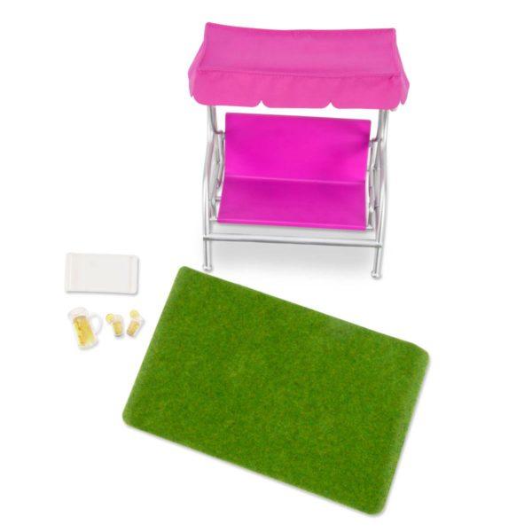 Garden Patio Set |Miniature Dollhouse Accessories|Lori Dolls
