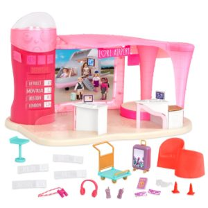 Jetset Airways | Airport Playset for 6-inch Dolls | Lori