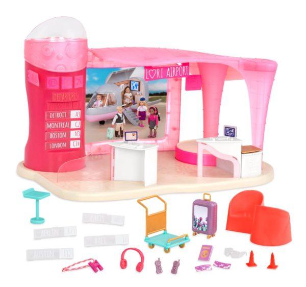 Jetset Airways | Airport Playset for 6-inch Dolls | Lori
