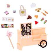 Take Away Treat Cart  6-inch Mini Doll Accessory Set  Lori Dolls