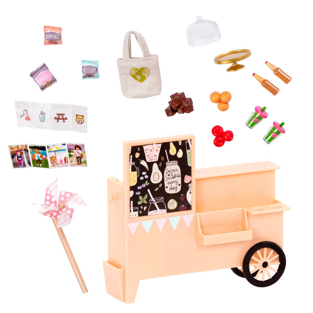 Take Away Treat Cart |6-inch Mini Doll Accessory Set |Lori Dolls