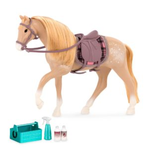 American Cream Draft Horse|6-inch Horses Mini Small Doll|Lori Dolls