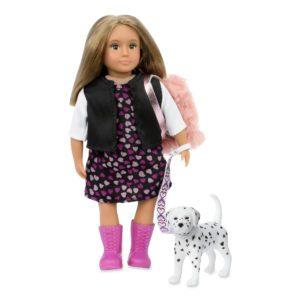 Gia & Gunner | 6-inch Doll & Toy Dalmatian | Lori Dolls