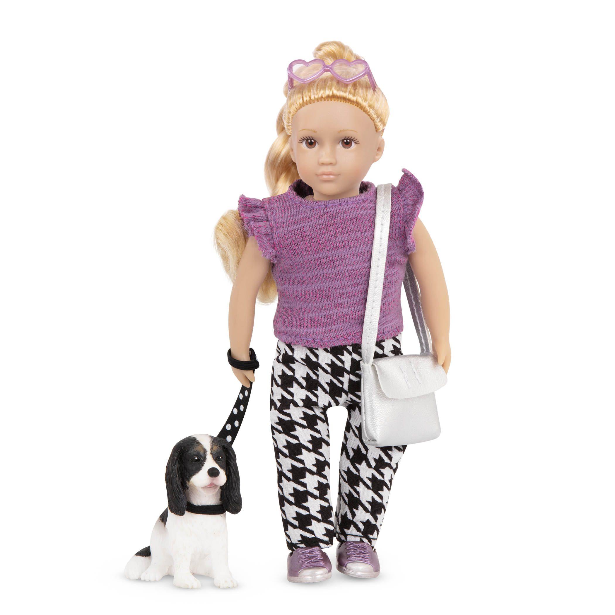 Heather & Nugget | Mini Doll & Toy Dog | Lori