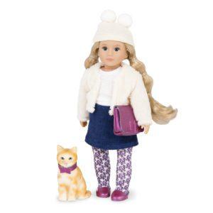 Lilith & Clover | 6-inch Mini Fashion Doll & Cat Set | Lori