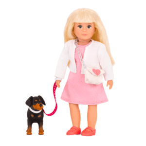 Nadine 6-inch Doll & Nix Toy Dog| Miniature Fashion Doll & Pet | Lori Dolls