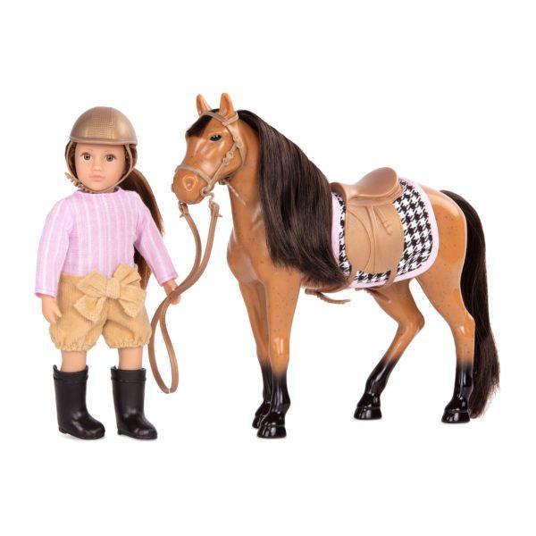 Celia & Cinnamon | Riding Doll & Horse Set | Lori