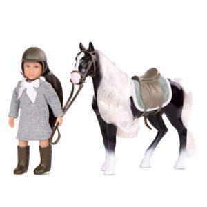 Ansley & Arabel | 6-inch Doll & Toy Horse | Lori