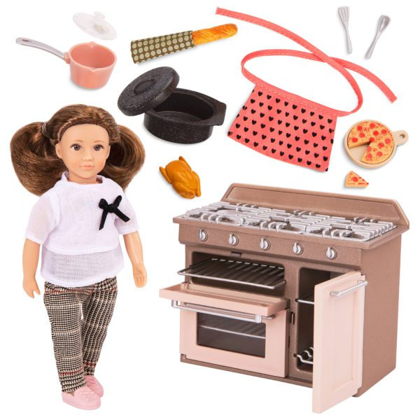 Cornelia's Kitchen Set | 6-inch Doll & Playset | Lori