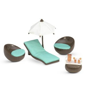 Rooftop Patio Set | Furniture for 6-inch Dolls | Lori