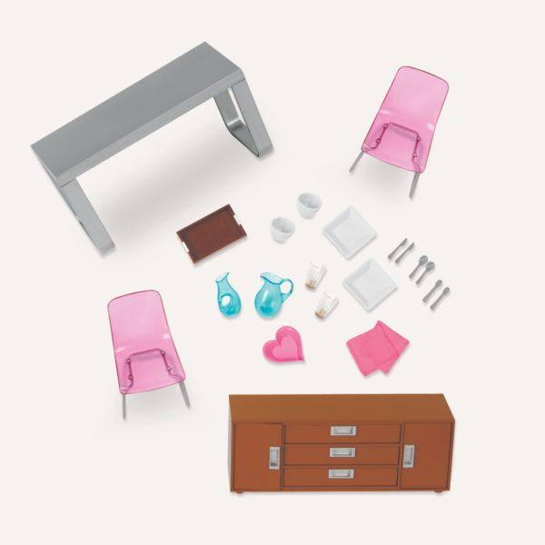 Moderna Dining Set | Furniture & Accessories for Mini Dolls | Lori Dolls