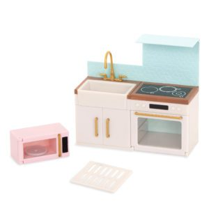 Backsplash Urban Kitchen | Playset for Mini Dolls | Lori