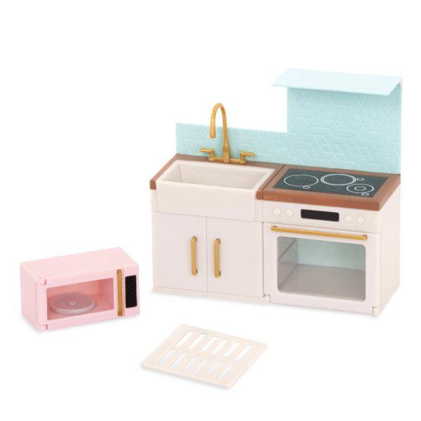 Backsplash Urban Kitchen | Playset for Mini Dolls | Lori