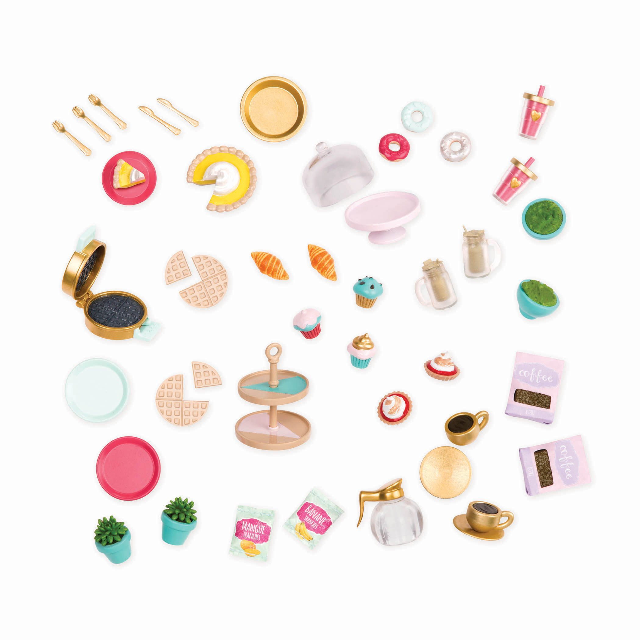 Coffee Shop Sweets and Accessories | Playset for 6-inch Dolls | Lori