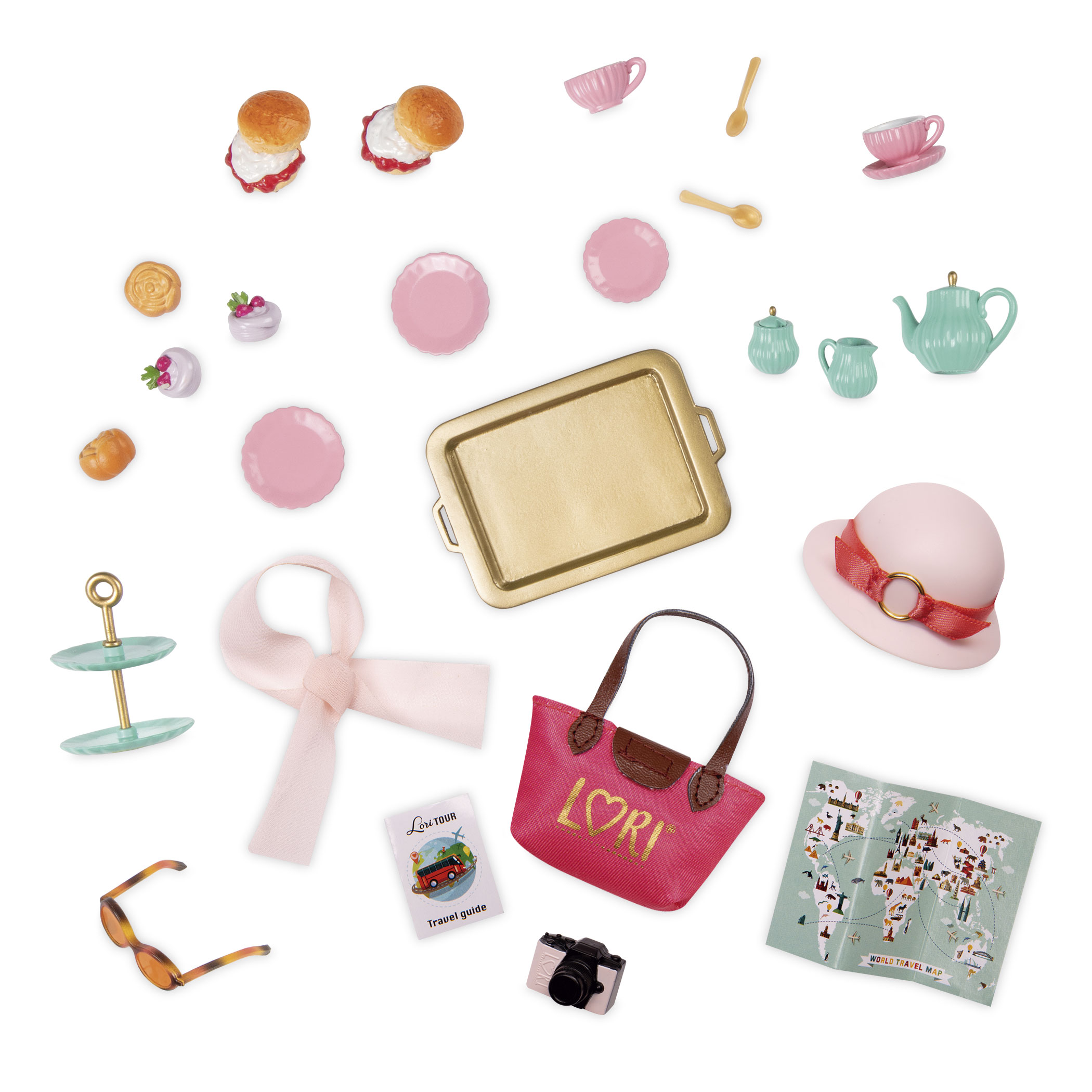 Smitten in Britain | Tea & Travel Set for 6-inch Dolls | Lori