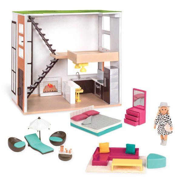 Lori's Loft | Dollhouse & Furniture for 6-inch Dolls | Lori