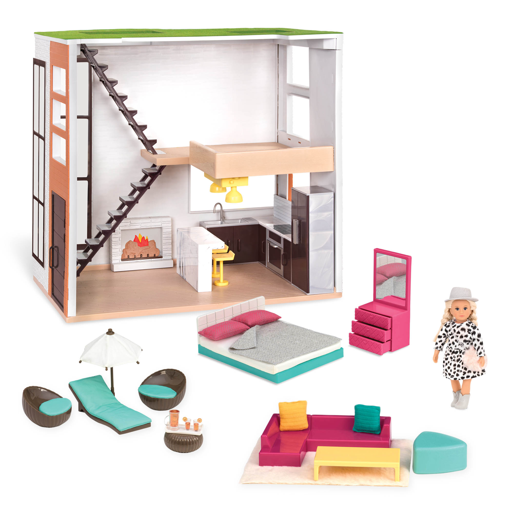 Lori's Loft | Dollhouse & Furniture for 6-inch Dolls | Lori
