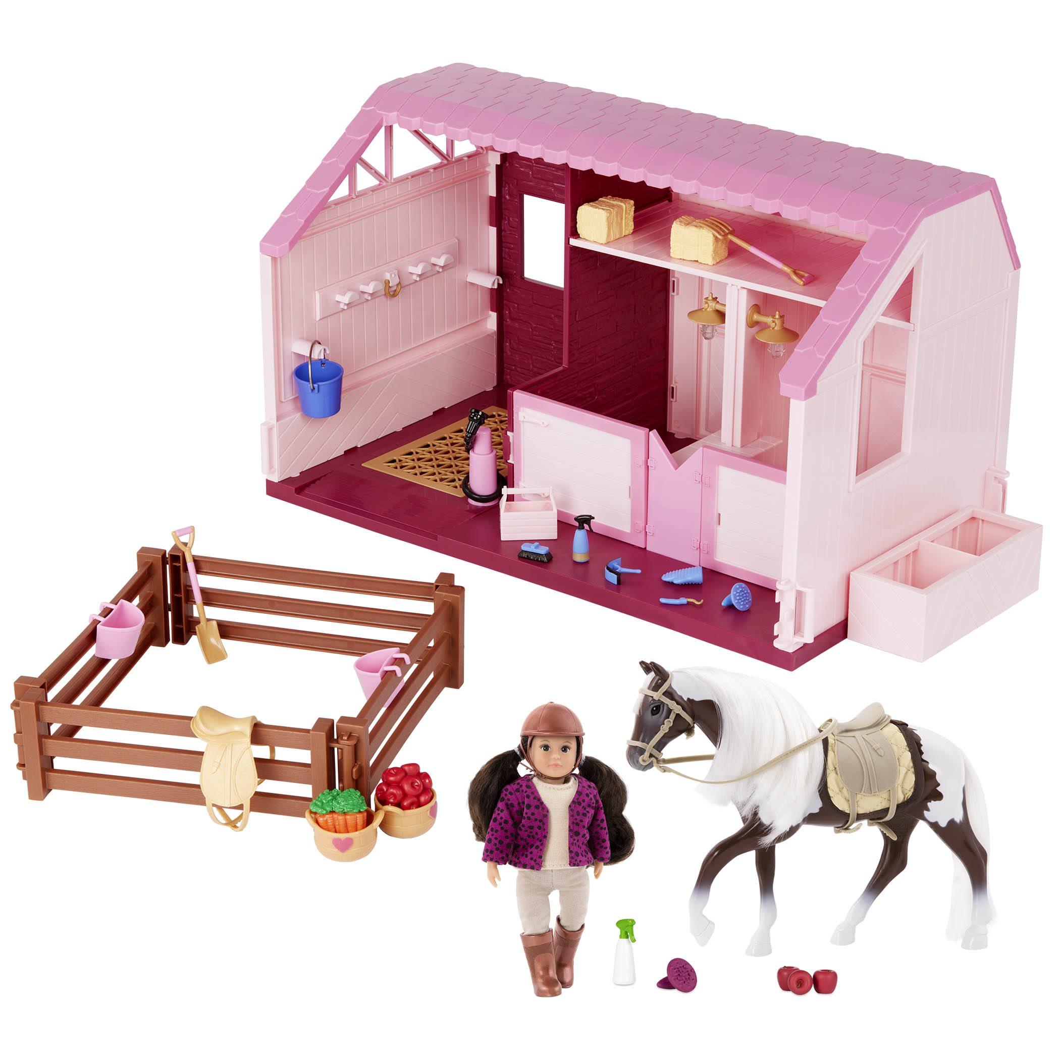 PhilippaÕs Horse & Stable Set | Mini Doll Playset | Lori
