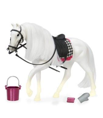 White Camarillo Horse   Horse for 6-inch Dolls   Lori