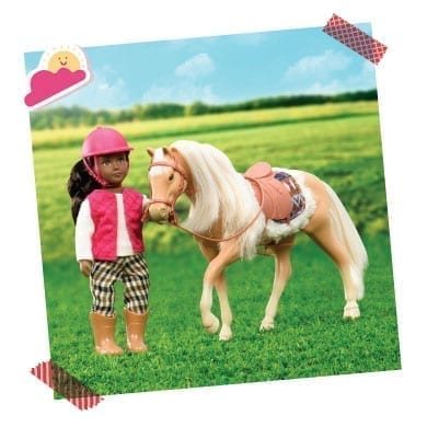 Mini doll with horse.