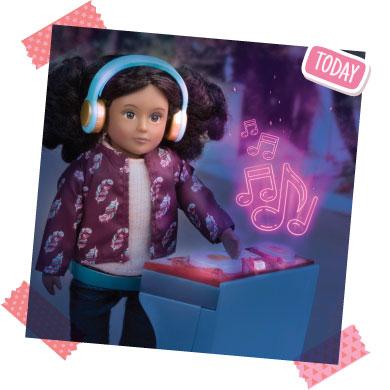 Mini doll DJ.