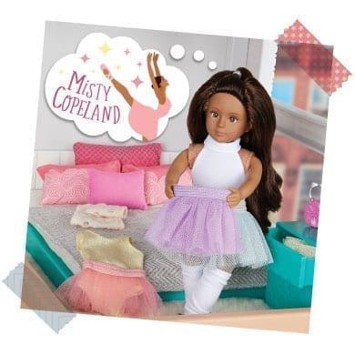 Mini doll with tutu thinking of Misty Copeland.