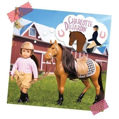 Mini doll with horse thinking about Charlotte Dujardin.