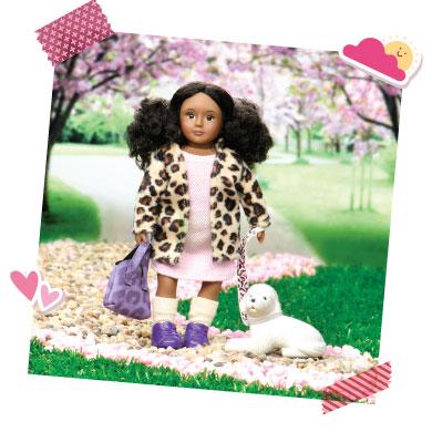 Mini doll with mini dog.